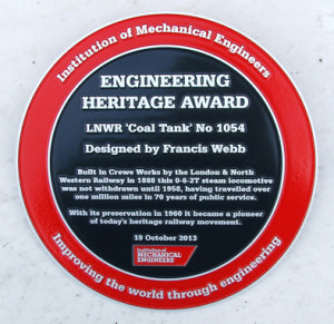 Engineering Heritage Award plaque