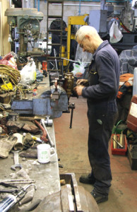 Working in the workshop