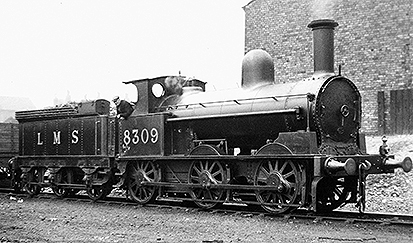 'Coal Engine' 8309.  During the early 1940s this engine carried the boiler that is now on Coal Tank No.1054.  Photo from the Mike Bentley collection